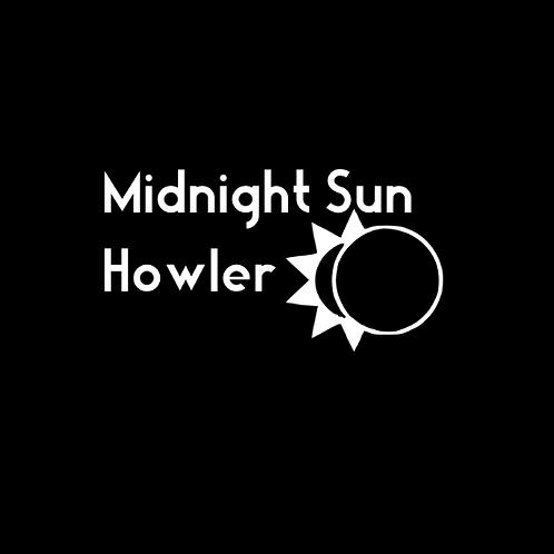 """Midnight Sun Howler"" Reversible Over-the-Collar Bandana"