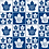 "Thumbnail: ""Maple Leafs"" Reversible Over-the-Collar Bandana"