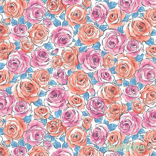 """Tea Rose"" Reversible Over-the-Collar Bandana"