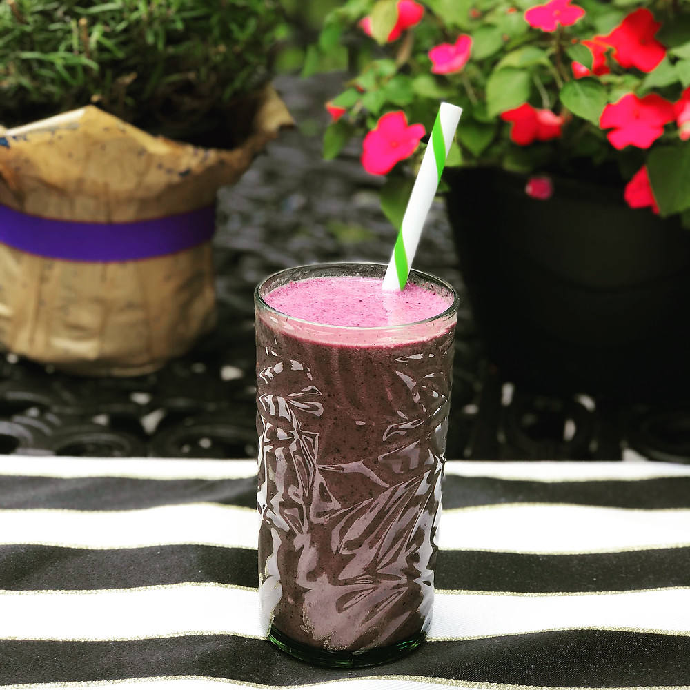 Blueberry Glow Detox Smoothie by Fit Foodie