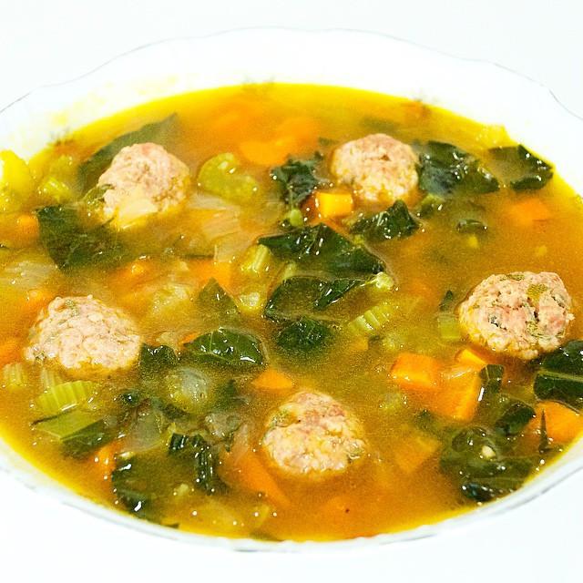 Healthy Turkey Meatball Soup recipe