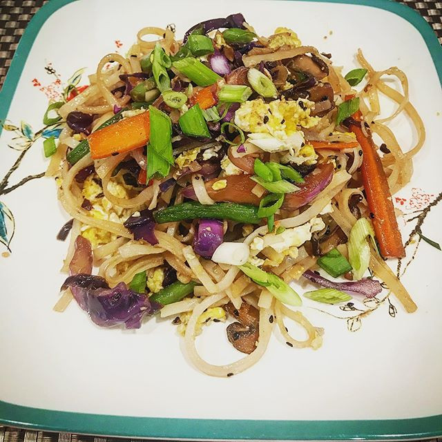 Veggie Stir Fry with Rice Noodles