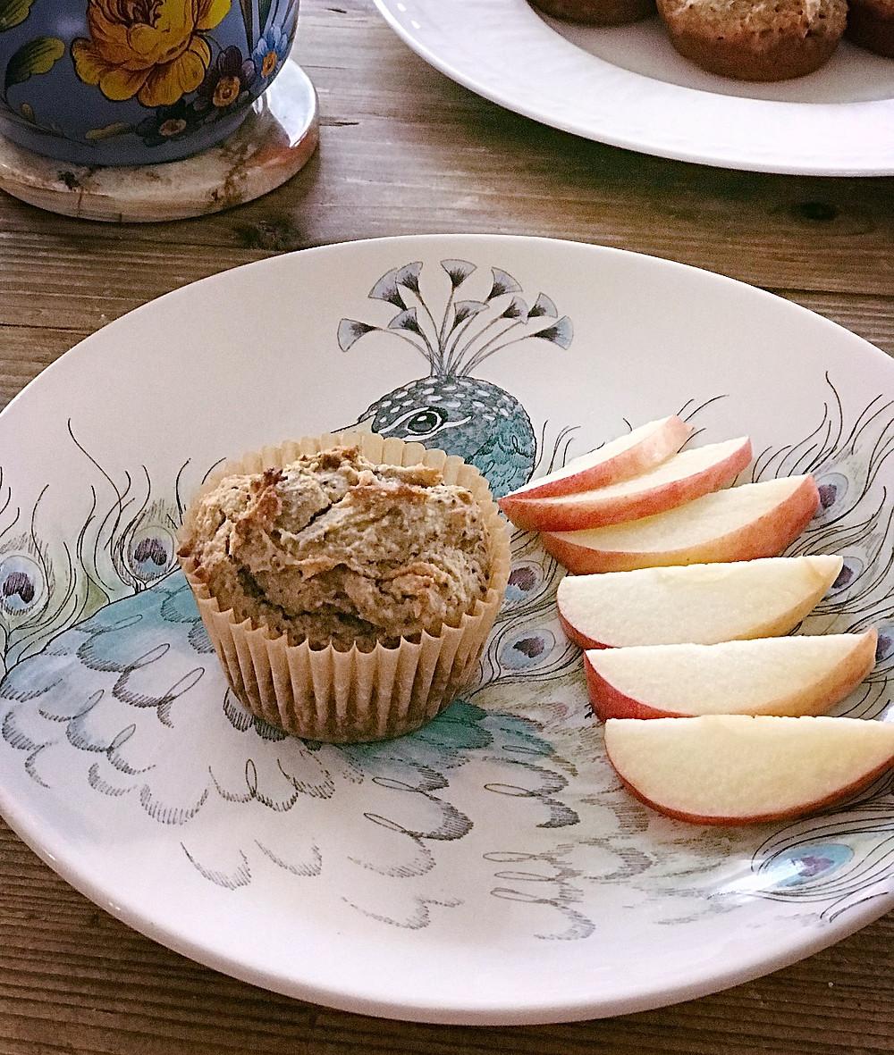 gluten- free banana peanut butter muffins
