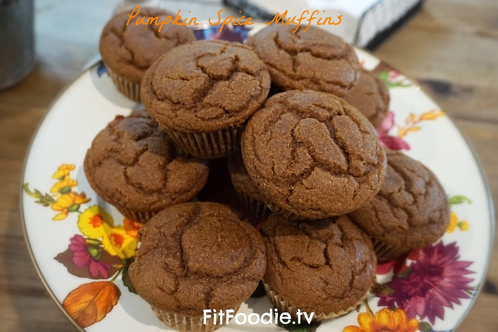 pumpkin spice muffins by fitfoodie.tv graziella baratta ventura