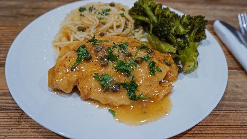 chicken piccata, a classic Italian dish