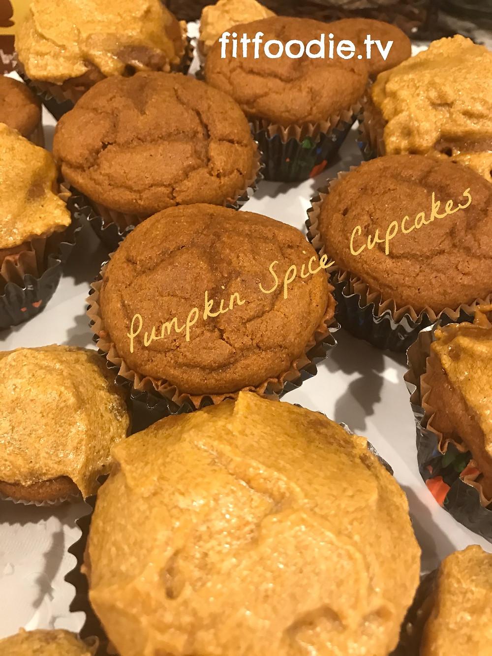 pumpkin spice cupcakes by fitfoodie.tv graziella baratta ventura
