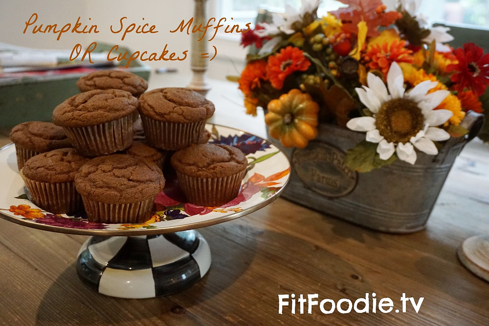 pumpkin spice muffins by fit foodie.tv graziella baratta ventura