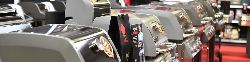 Titelbild Beratungstermine im Grillforum VALENTIN: Aufnahme aus der Ausstellung im Verkaufsraum in Mainz