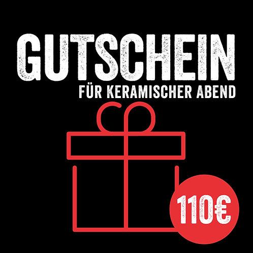 Kursgutschein: Keramischer Abend by Monolith (mit Sofort-Versand per E-Mail)