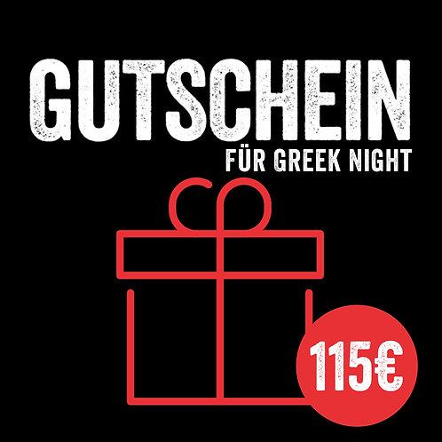 """Kursgutschein: Greek Night """"Griechischer Abend"""" (mit Sofort-Versand per E-Mail)"""