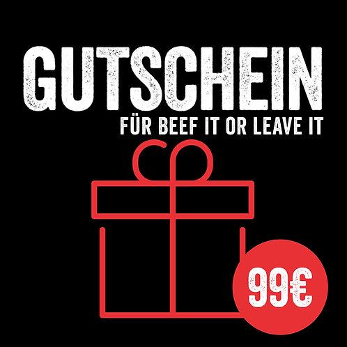 Kursgutschein: Beef it or leave it (mit Sofort-Versand per E-Mail)