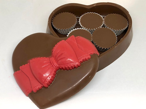 Solid Chocolate Heart Box/Mother's Day/Gift