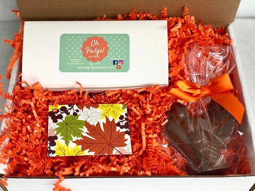 Thanksgiving Fudge/Chocolate Turkey Box/Thanksgiving Gift/Treats/Gift Box/Thanks