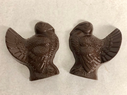 Chocolate Turkey 4pk/Thanksgiving Favors/Placecard Chocolates/Thanksgiving Gifts