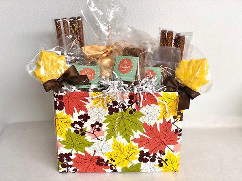 Deluxe Thanksgiving/Fall/Harvest Treat Basket/Thanksgiving Gift/ Thanksgiving Tr