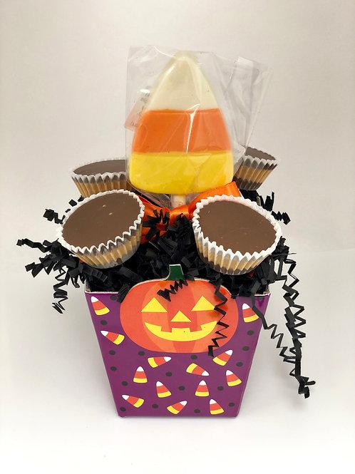 Peanut Butter Cup & Candy Corn Boo Bucket