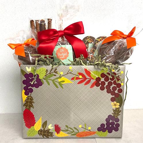 Thanksgiving Gift Box/Cornucopia Gift/Hostess Gift/Thanksgiving Chocolates