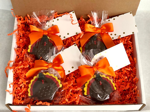 Chocolate Covered Oreo Turkeys/Thanksgiving Favor/Thanksgiving Place Card Settin
