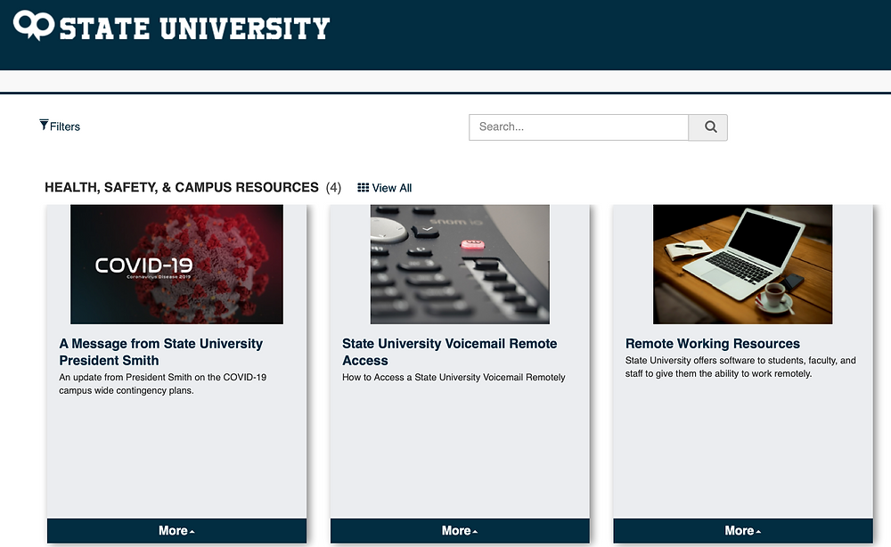 State University Health, Safety, & Campus Resources Photo