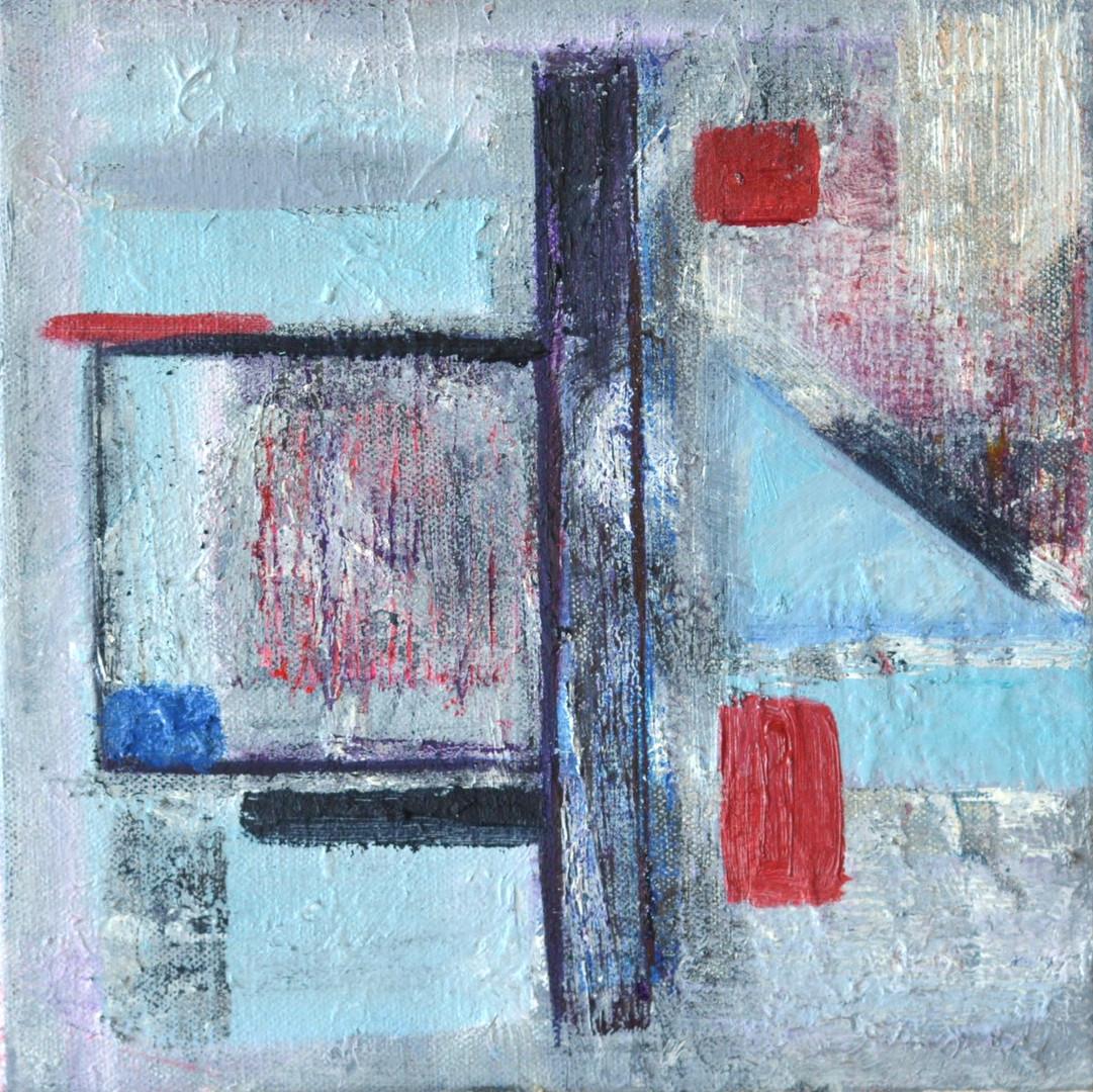 Studley window - blue rain