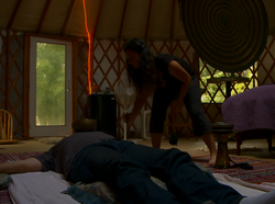 katrina yurt inside
