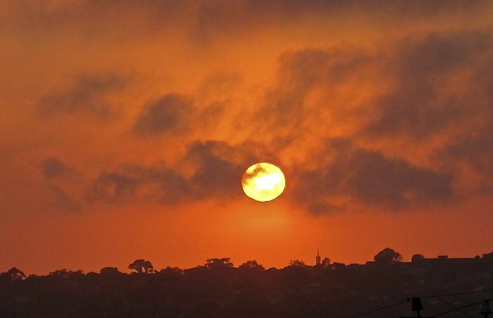 Sunrise ball of fire