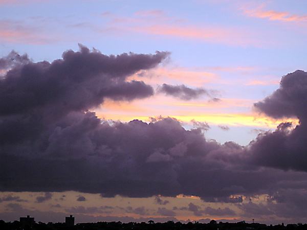 Clouds over the horizon