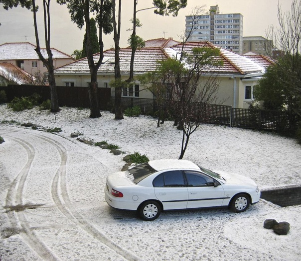 Hail storm - Neutral Bay