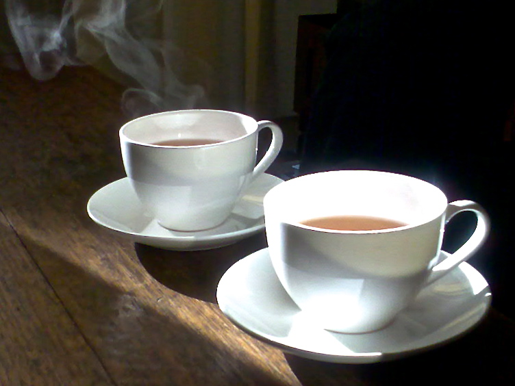 2 hot teas