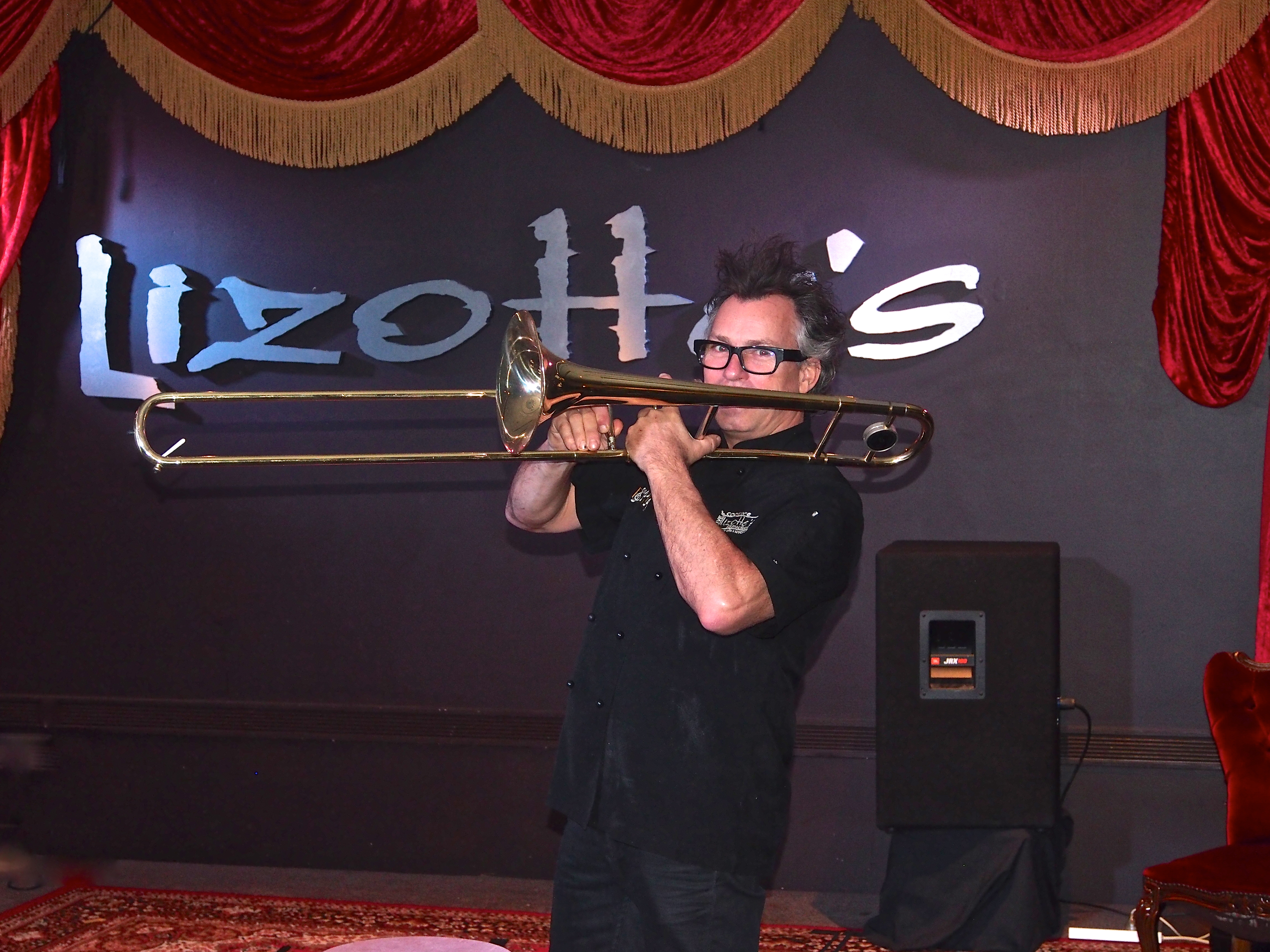 Brian Lizotte playing trombone