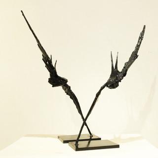 Bronze - Martinet en vol