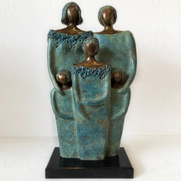 Famille de 5, bronze