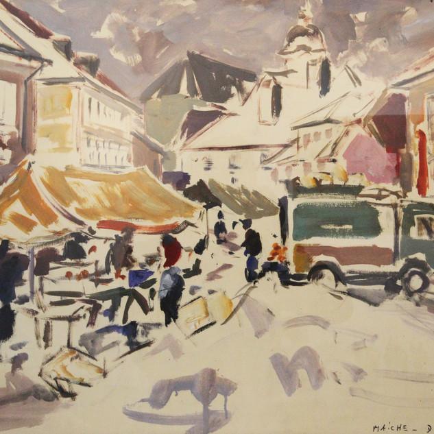 Marché à Maîche (1958)