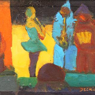 Musiciens sur scène au cirque d'hiver ( Paris)