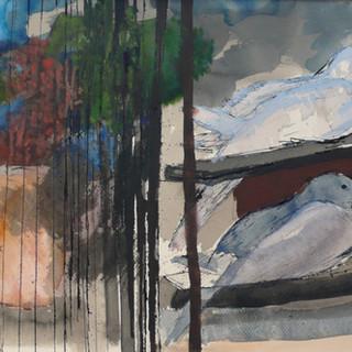 """aquarelle """" Le silence des colombes"""""""