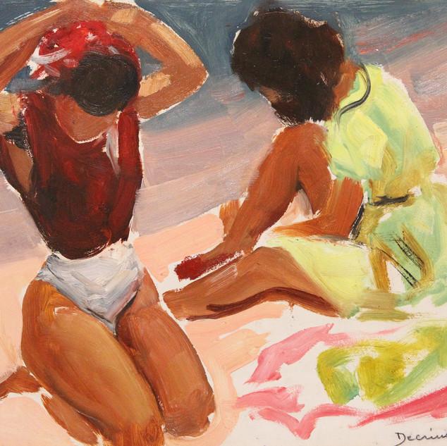 Jeunes femmes à la plage (1950)