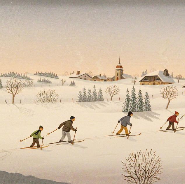 40x20 Retour des skieurs