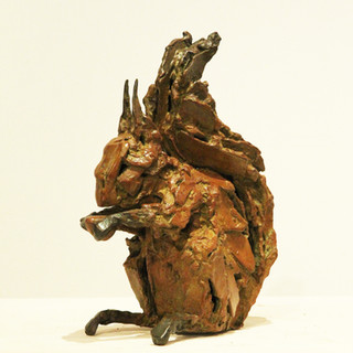 Bronze - Ecureuil assis