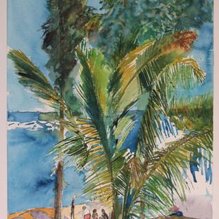 Famille sur la plage - Réunion