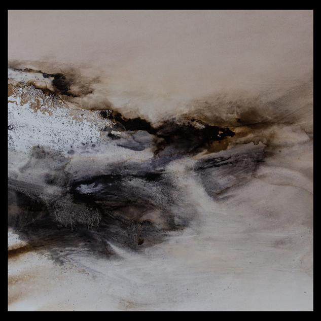 bitume et huile - 60x60cm