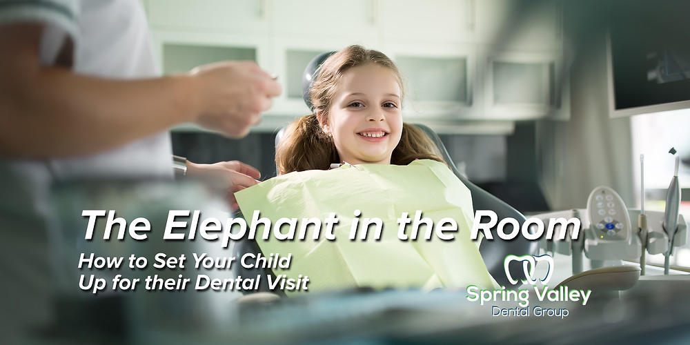 Spring Valley Dental Group Blog, How to set your child up for a successful dental visit. The elephant in the room. Written by Lindsey Stanton a registered dental hygienist in O'Fallon, IL