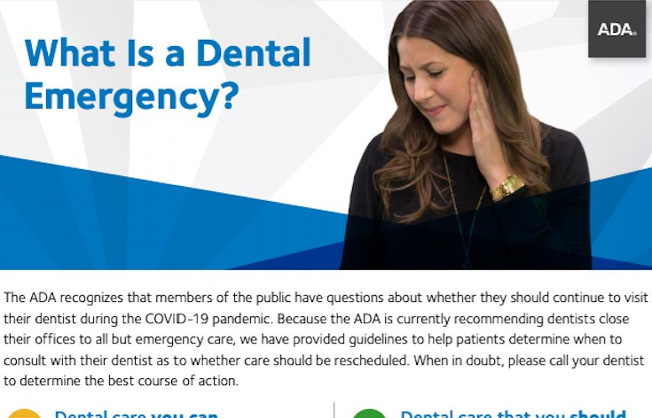 Definition of Dental Emergency - a patients guide to dental emergency during COVID-19 quarantine