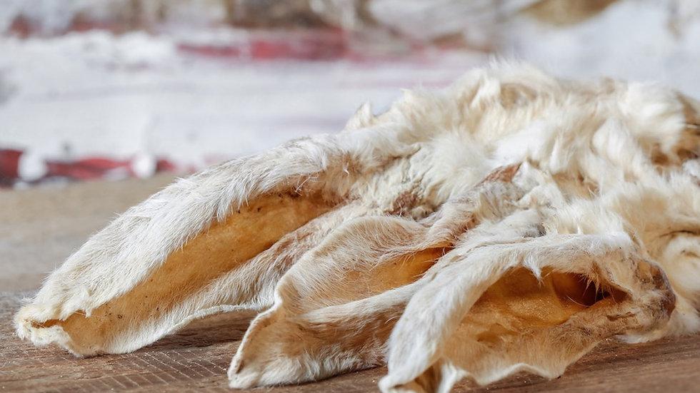 Kaninchenohren mit Fell 100g getrocknet