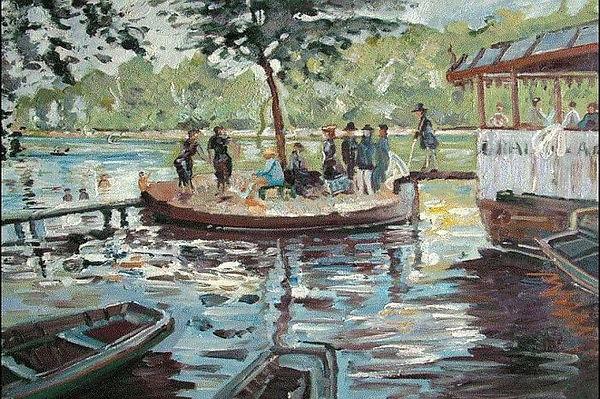 Claud Monet La Grenouillère 1869