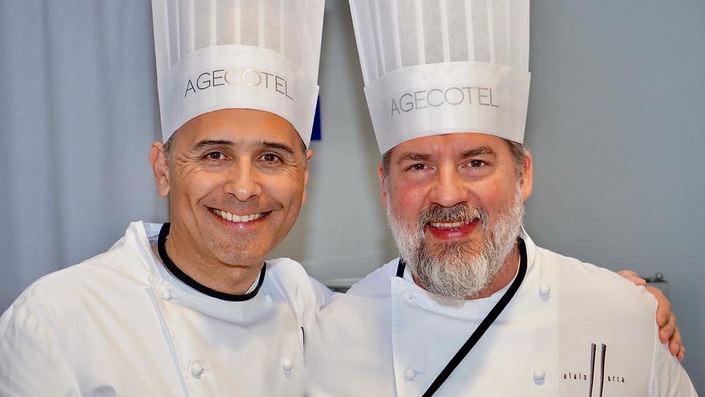 Jean-Bernard MION - Maire de La Colle Sur Loup / Alain LLORCA - 1 Macaron - Maitre Restaurateur - Restaurant Alain LLORCA - La Colle/Loup . © Fabrice Roy