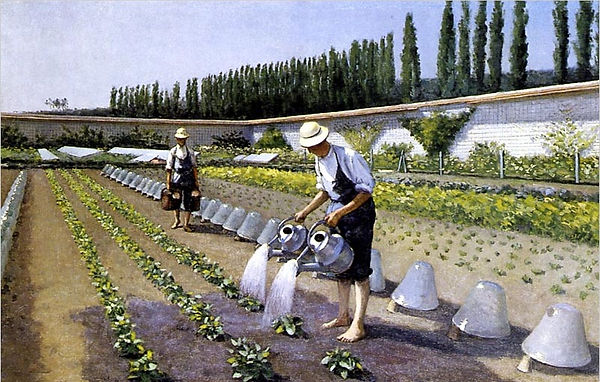 Gustave Caillebotte. Les Jardiniers