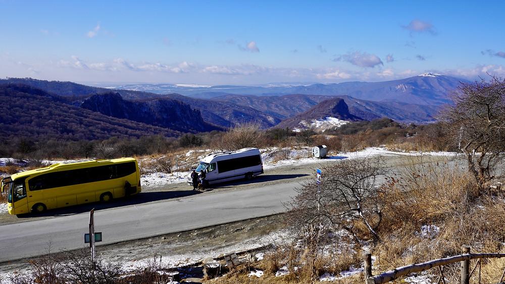 Sur la route du Caucase. Col de Gombori. 1620 mètres d'altitude. © Fabrice Roy