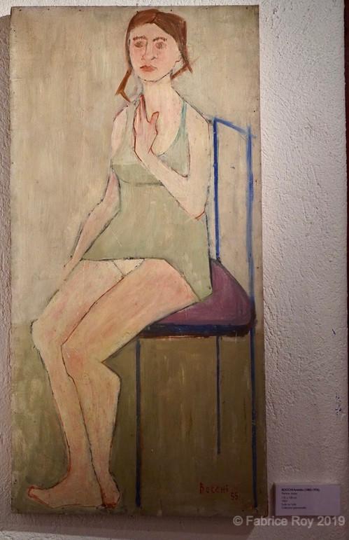 Amedeo Bocchi. Femme Assise. 1964