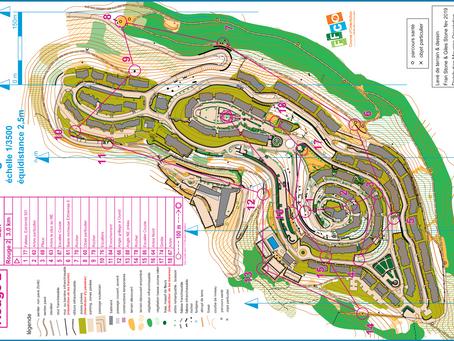Parcours sportif urbain à Mougins-le-Haut