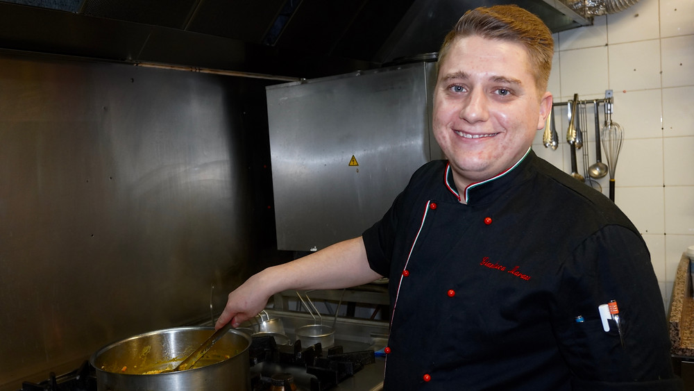 Le Chef Gianluca Marano. © Fabrice Roy